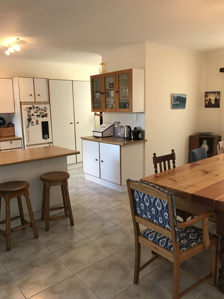 open plan kitchen leading onto dining room