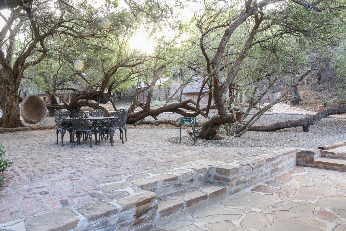Relaxing outdoor areas