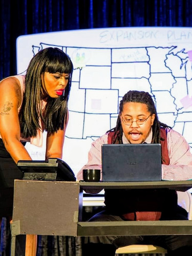 MS. MANAGEMENT Ain't I a Woman Playfest  Left: Gwen Evans Right: Alexander Griggs Directed/Produced by: Janelle Renee Dunn