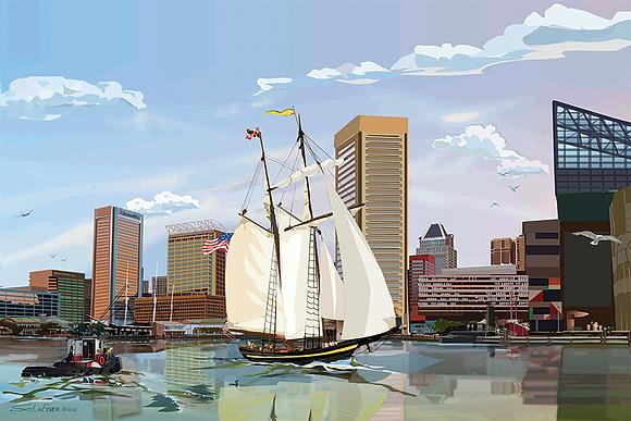 Pride of Baltimore Harbor