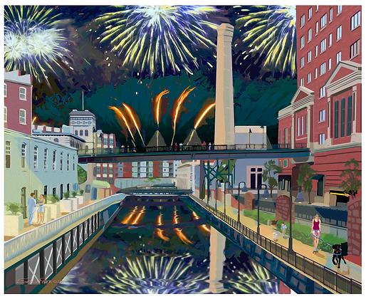 Shockoe Bottom Fireworks