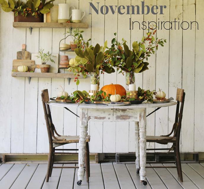 Rustic Farmhouse Thanksgiving Tablescape