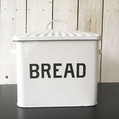 Metal Enamel Bread Box