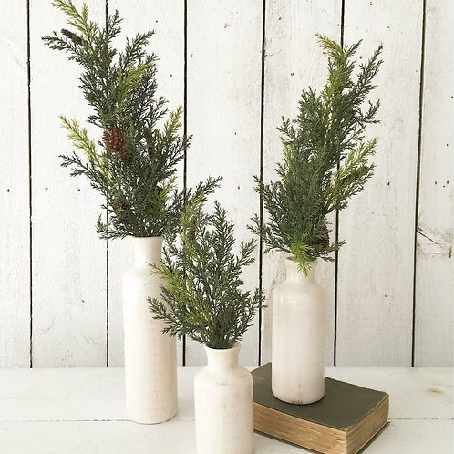 """22"""" Prickly Pine Stems with Pine Cones"""