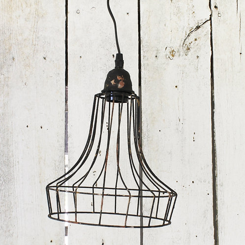 Black Distressed Lamp Shade