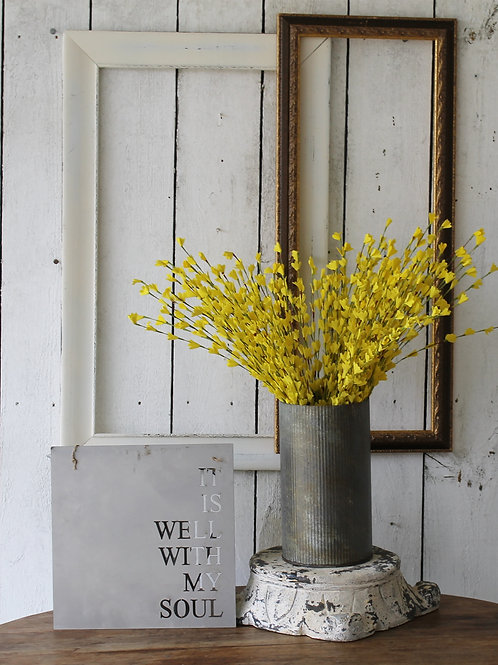 Yellow Felt Forsythia Spray
