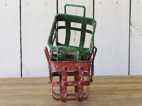 Distressed Locker Baskets (RED ONLY)