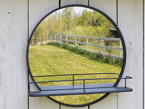 Circle Mirror Shelf