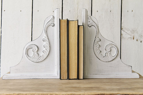 White Corbel Book Ends - SET