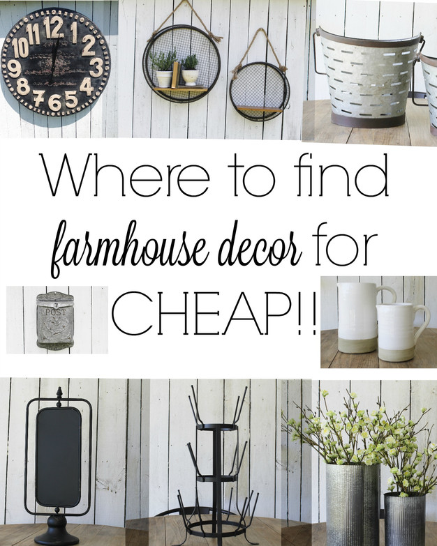 Where To Find The Best Farmhouse Style Decor For