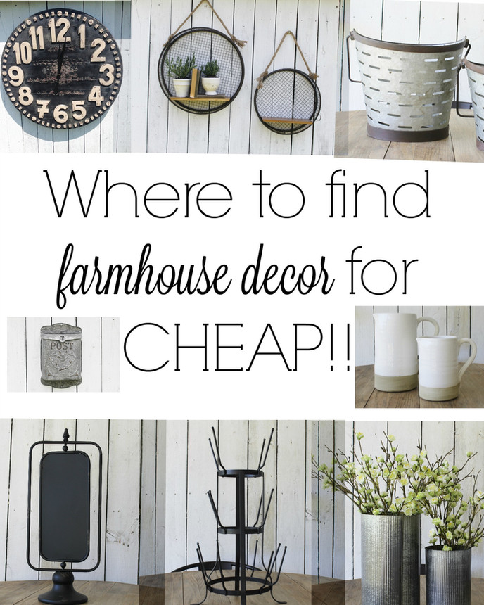 Where to Find the BEST Farmhouse Style Decor for Cheap!!!