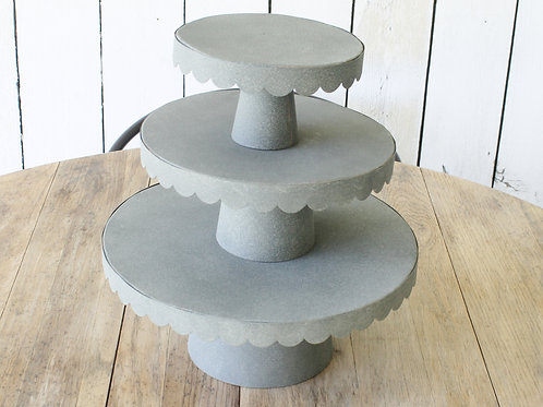 Metal Scalloped Pedestals