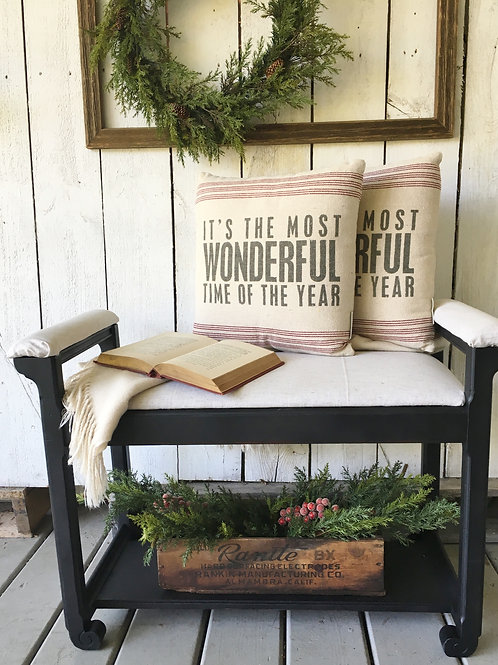 """""""Most Wonderful Time of the Year"""" Throw Pillow"""