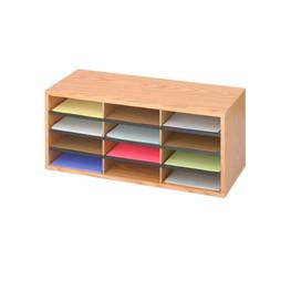 Wood/Corrugated Literature Organizer, 12