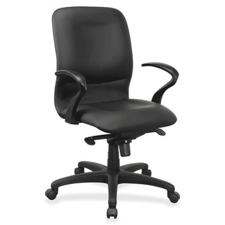 Lorell Executive Mid-back Leather Contour Chair