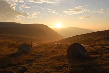 Experience Expeditions, wild camping sunrise