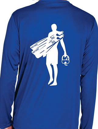 Rash Guard - Men's Royal Back View