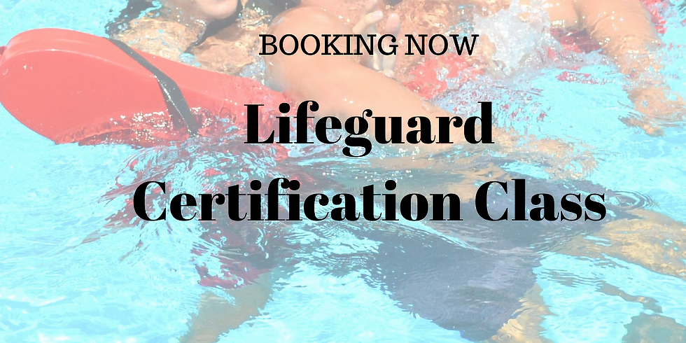 Lifeguard Certification Course    March 29th