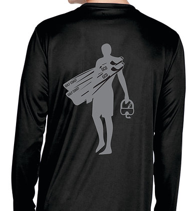 Rash Guard - Men's Black Back View