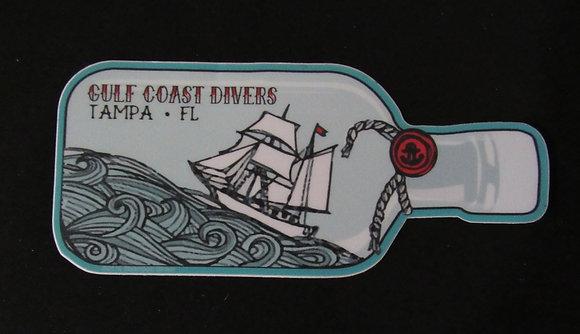 """Ship in a Bottle Sticker - 4"""""""