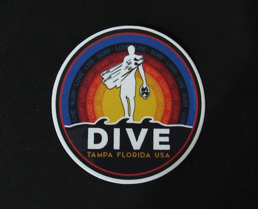 "Love Live Surf Stickers - 2"" or 4"""