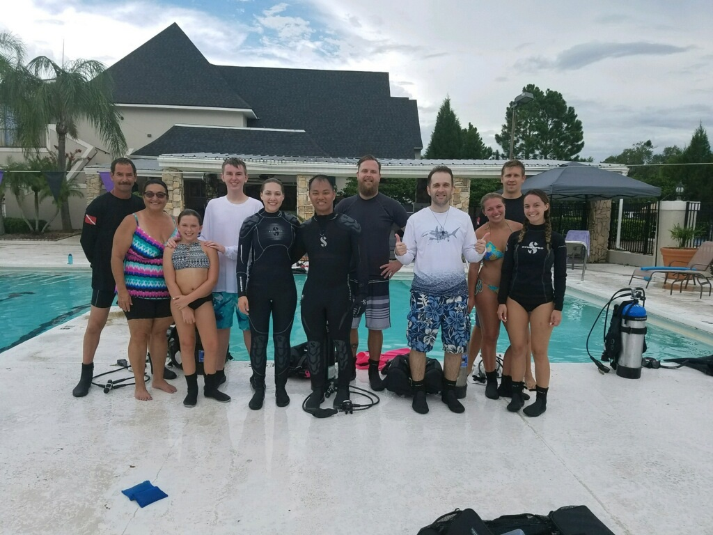 group scuba classes, Tampa, FL