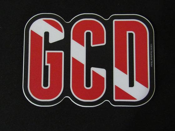 "GCD Dive Flag Sticker - 4"""