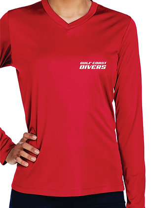 Rash Guard - Women's Red Front View