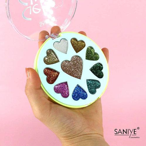 Paleta de Sombras glitter E1014( 12 piezas)