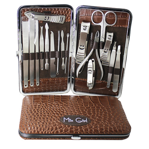 Set de herramientas para ceja, manicure y pedicure G063 (1 Pza)