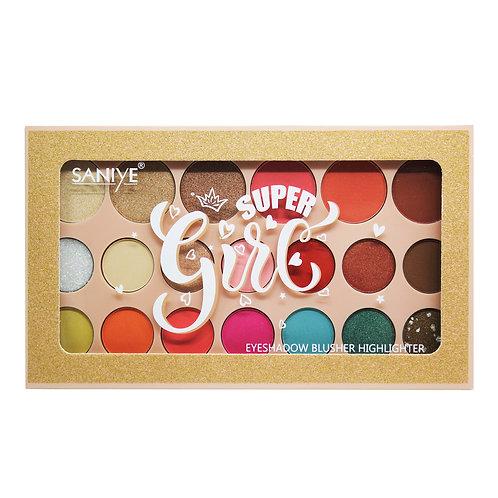 Paleta de sombras Super Girl E1816(12 piezas)
