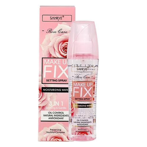 Fijador de maquillaje R3008 con agua de rosas (12 pzas)