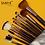 Thumbnail: Estuche con 11 brochas multiuso pelo sintético Daroge modelo W157