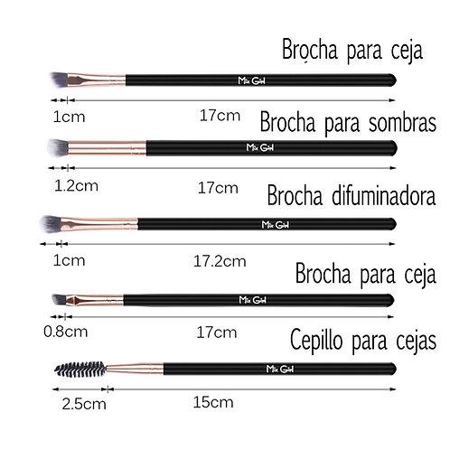 Set De Brochas Para Ojos W173 (12 Piezas)
