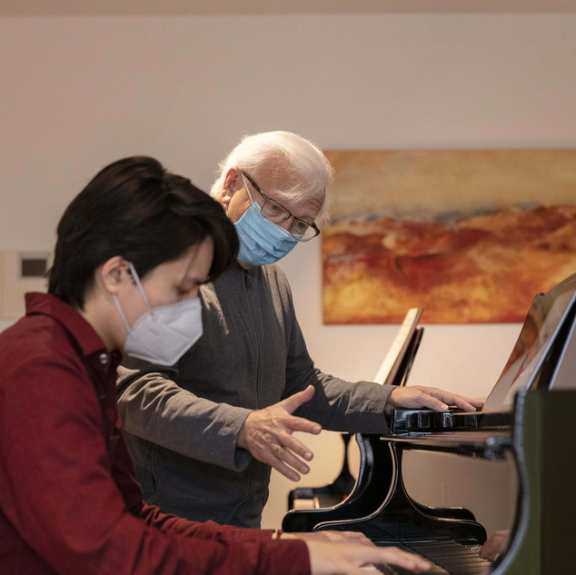 Ron Maxim Huang, Prof. Pavel Gililov, Internationale Musikakademie Liechtenstein 20.11.2020