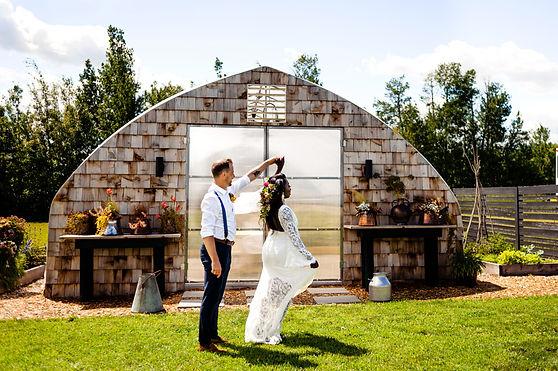Farm Fresh Florals Wedding Ceremony
