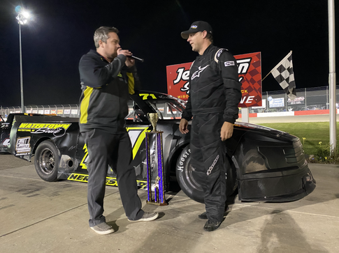 Ovadal Jr. Captures First Career Midwest Truck Series Win at Home Track
