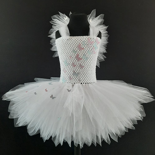 Butterfly Fairy Tutu Dress with Wings