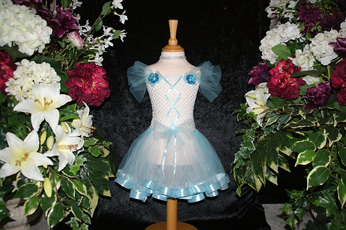 Baby Blue Short Ribbon Tutu Dress