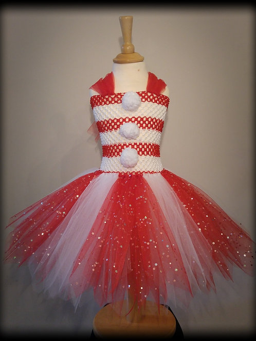 Candy Cane Christmas Tutu Dress