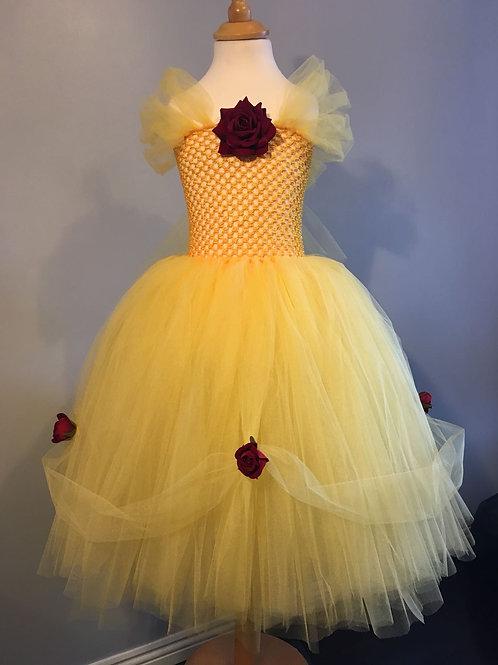 Belle Disney Inspired Tutu Dress Ballgown