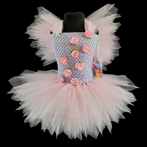 Lilac & Pink Flower Fairy Tutu Dress