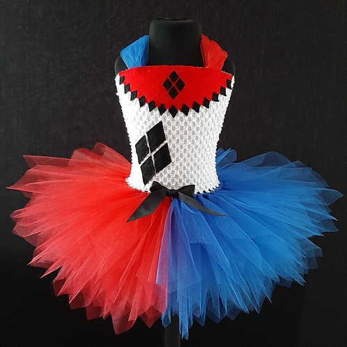 Harley Quinn Inspired Tutu Dress