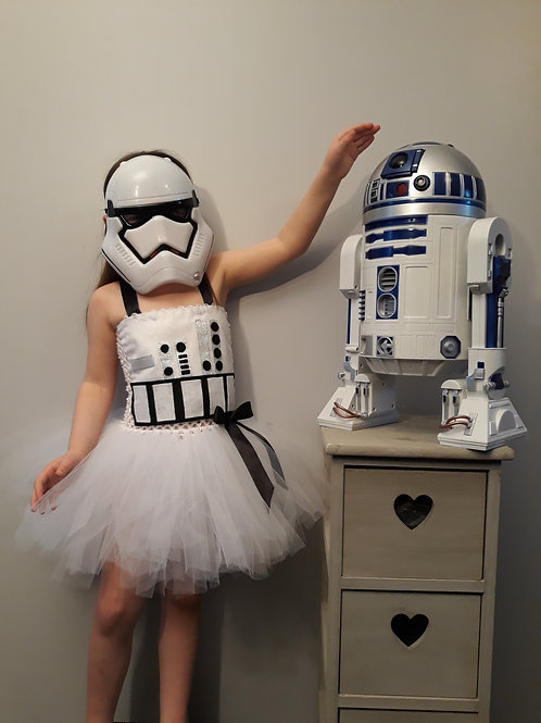Storm Trooper Inspired Tutu Dress