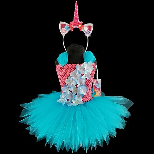 Unicorn Flower Tutu Dress