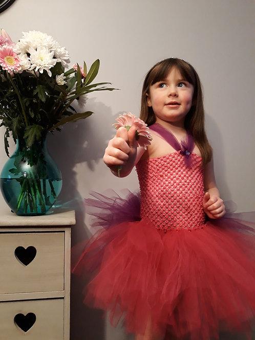 Burgundy & Purple Princess Tutu Dress