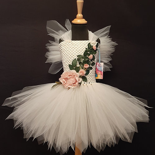 Ivory Leaf Fairy Tutu Dress