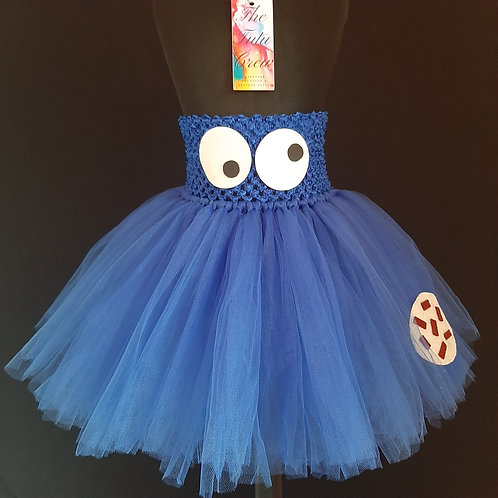 Cookie Monster Inspired Tutu Skirt