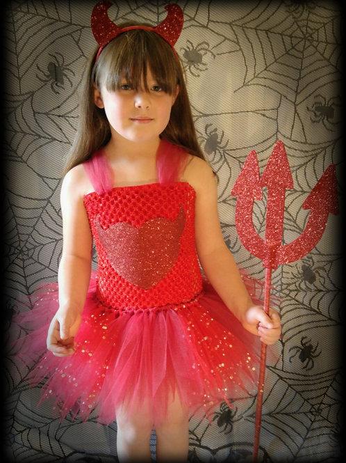 Little Devil Halloween Tutu Dress