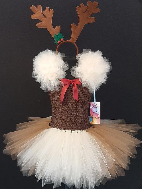 Christmas Reindeer Tutu Dress